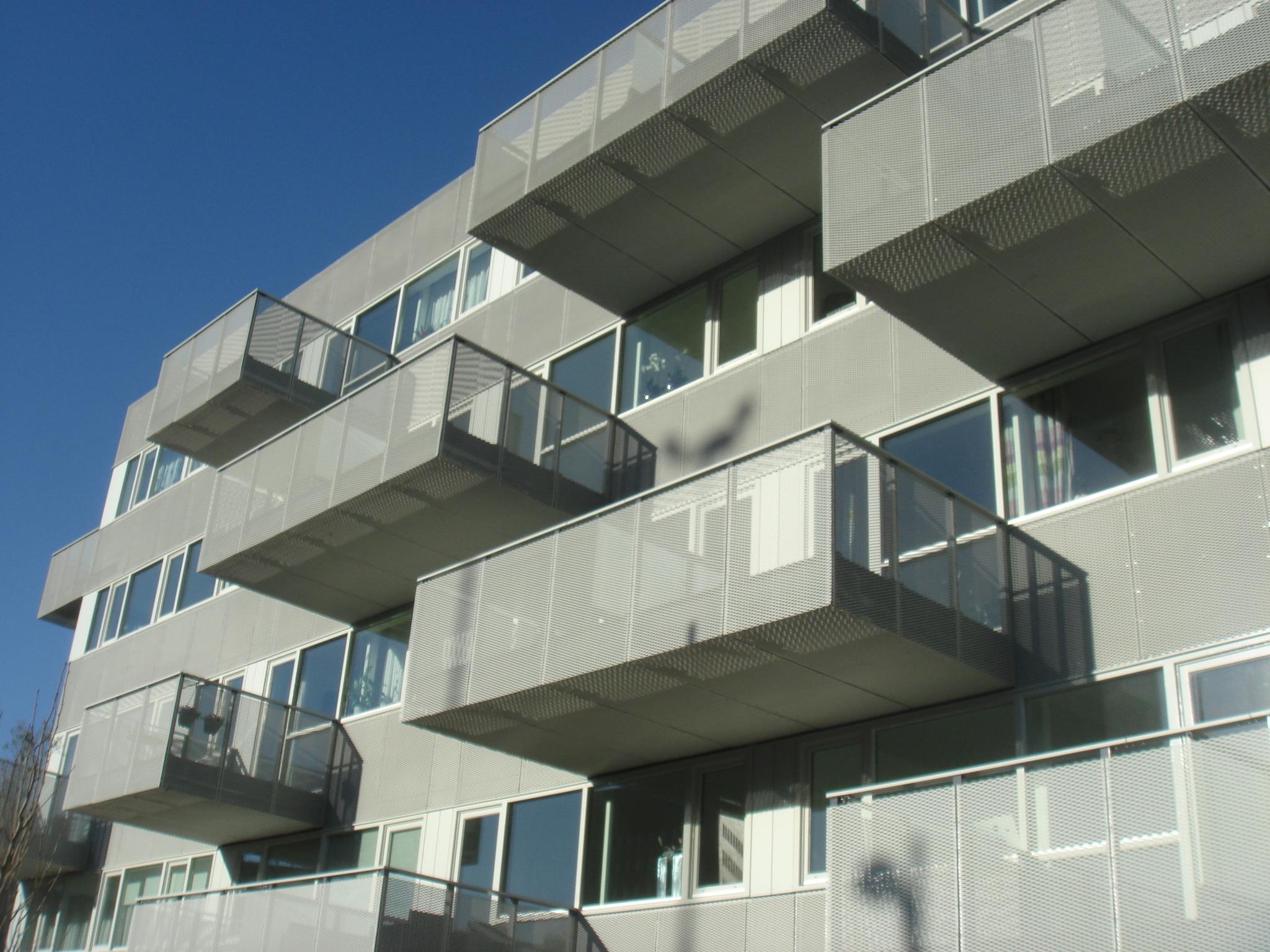 Balkons van MD Strekmetaal pronken aan het appartementencomplex Boogie Woogie in Amersfoort
