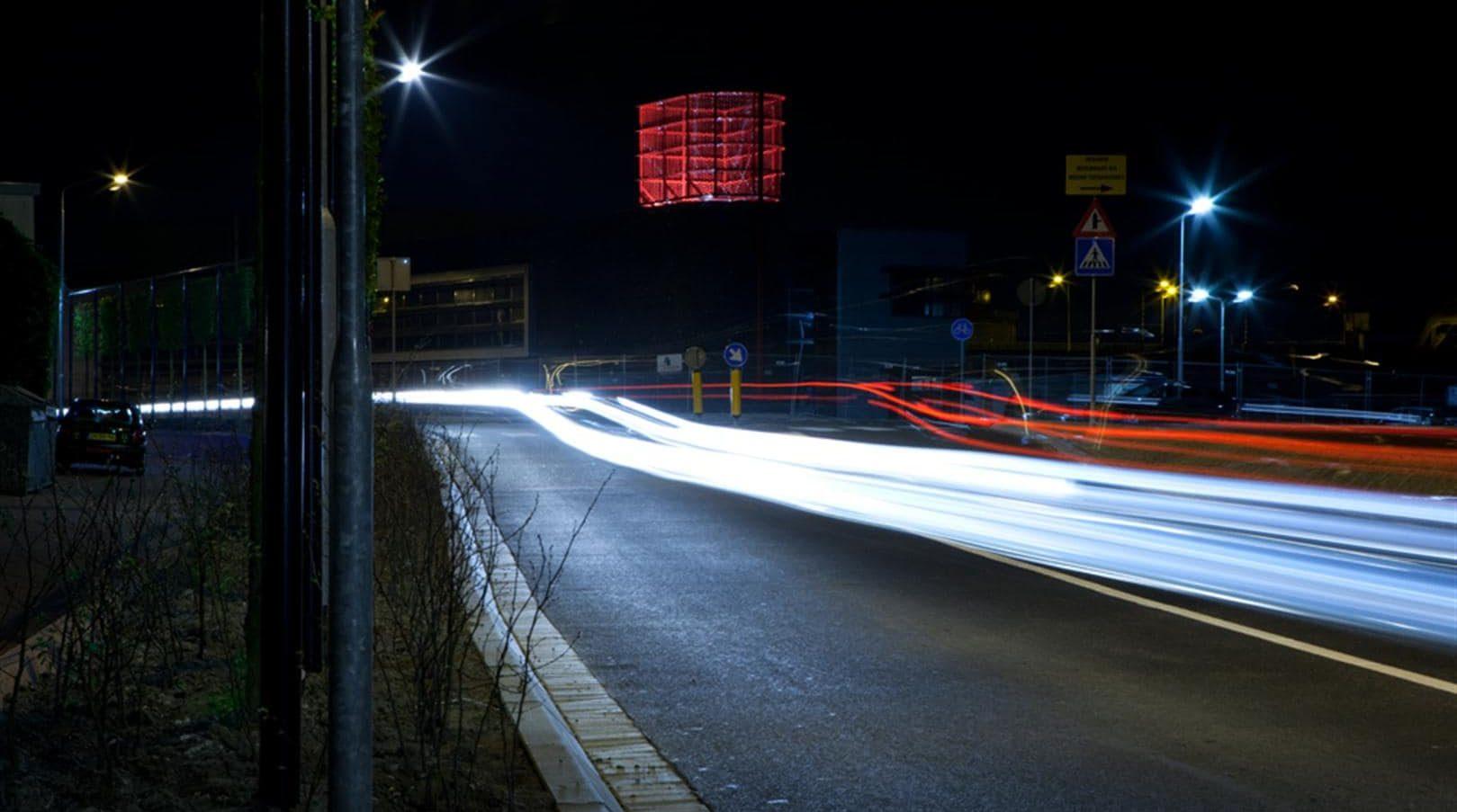 Verlicht MD Strekmetaal zorgt ervoor dat het torentje van de Brandweerpost in Alblasserdam mooi wordt uitgelicht