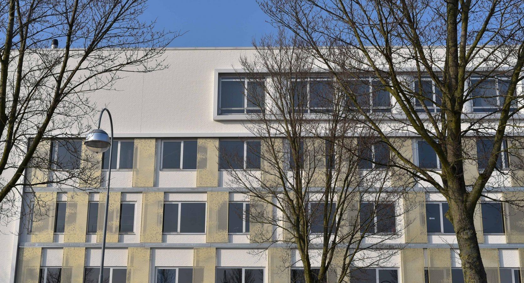 MD Designperforatie gevel van Kantoorgebouw Capellalaan in Hoofddorp