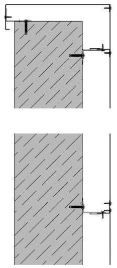 Detailtekening van het zichtbare bevestigingssysteem DEV111 voor gevelpanelen van MD Designperforatie