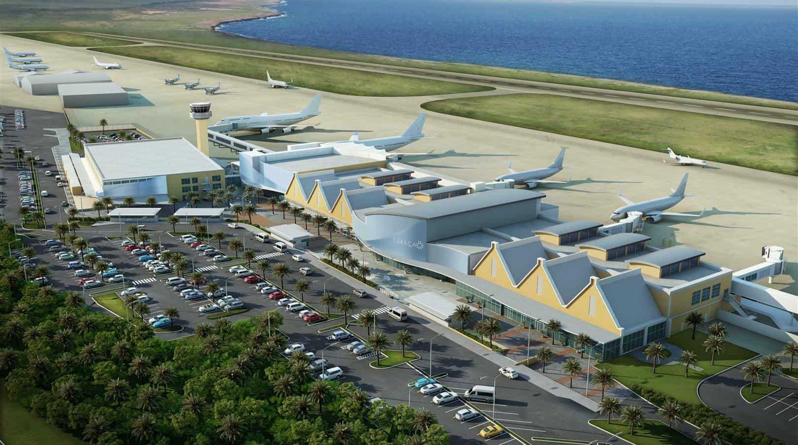 Curaçao International Airport op Curaçao voorzien van MD Designperforatie en lamellen