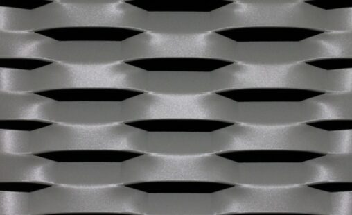 Voorbeeld MD Strekmetaal van aluminium gevelbekleding type MD Esperia