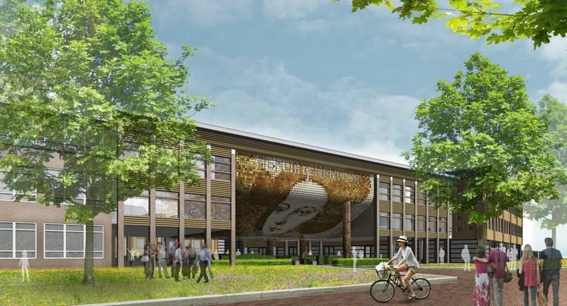 Internationale campus in Breda voorzien van MD Flack gevelbekleding