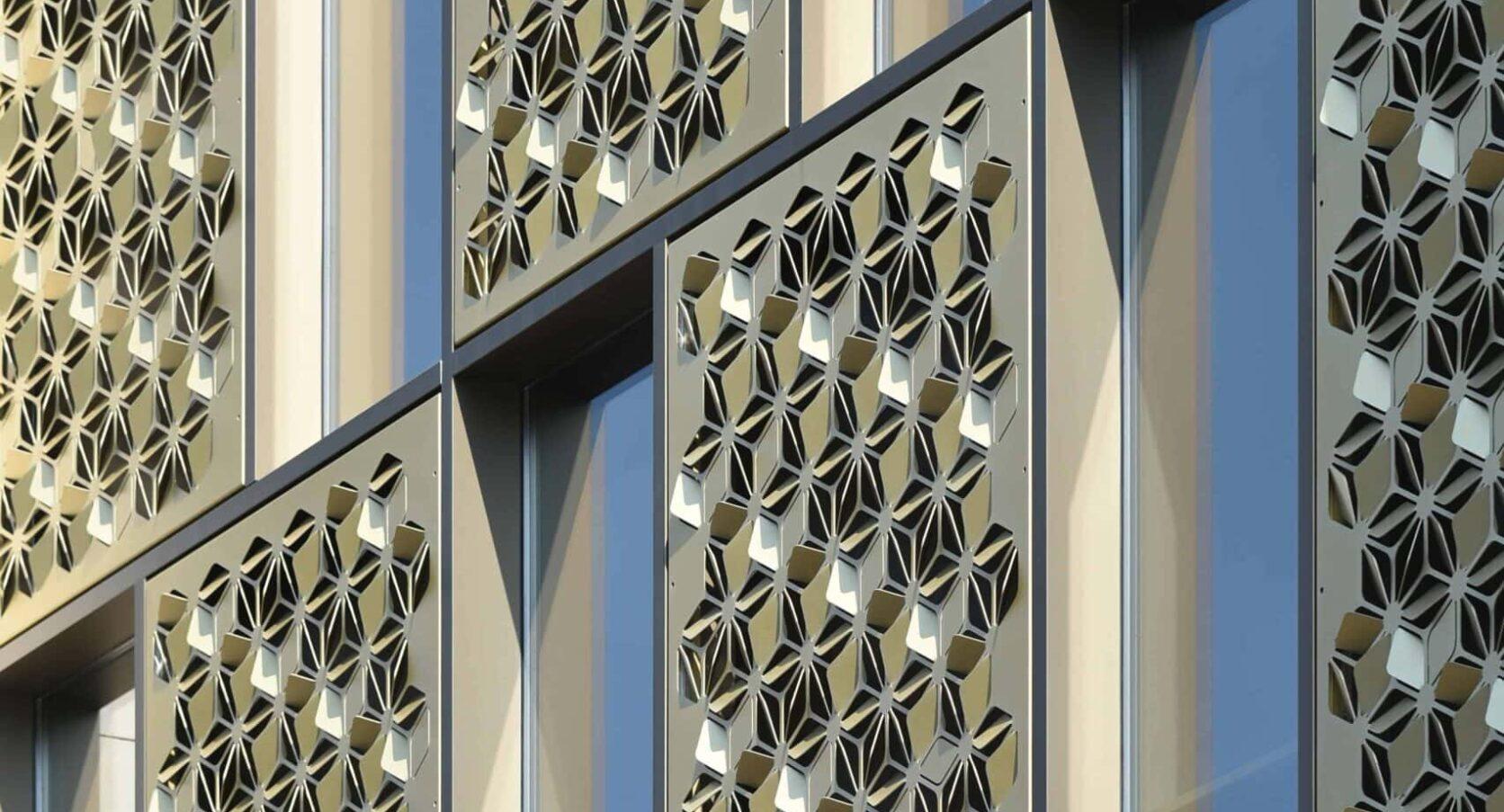 De designpanelen van Winkelcomplex Kalanderstraat in Enschede
