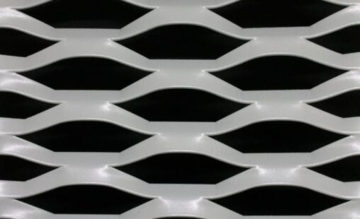 Voorbeeld MD Strekmetaal van aluminium gevelbekleding type MD Grafica
