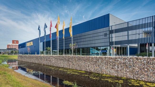 MD Lamel gevelbekleding voor de Ikea vestiging in Zwolle