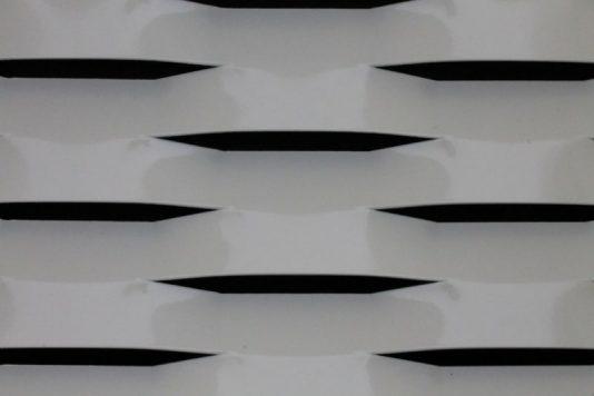Voorbeeld MD Strekmetaal van aluminium gevelbekleding type MD Omega