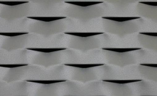 Voorbeeld MD Strekmetaal van aluminium gevelbekleding type MD Reserve