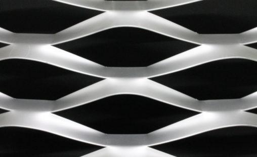 Voorbeeld MD Strekmetaal van aluminium gevelbekleding type MD Stadium