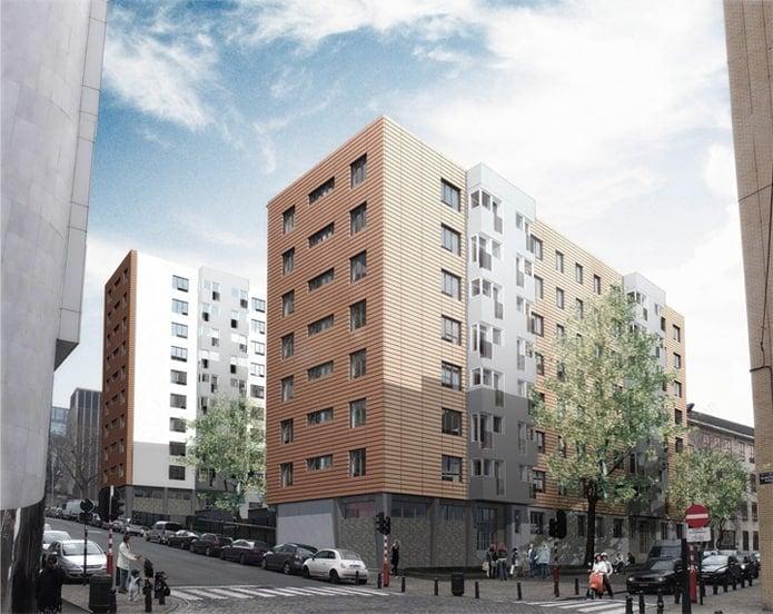 Sociale woning Ommegang voorzien van MD strekmetaal in Brussel, België