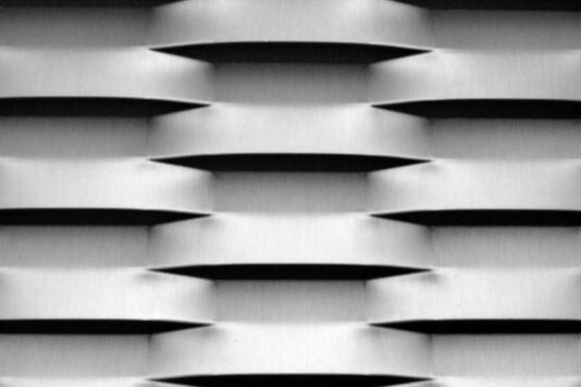 Voorbeeld MD Strekmetaal van aluminium gevelbekleding type MD College