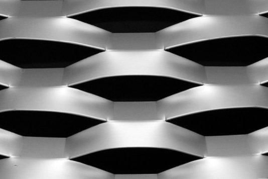 Voorbeeld MD Strekmetaal van aluminium gevelbekleding type MD Lucerna