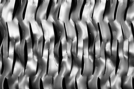 Voorbeeld MD Strekmetaal van aluminium gevelbekleding type MD LS50