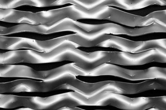 Voorbeeld MD Strekmetaal van aluminium gevelbekleding type MD LS75