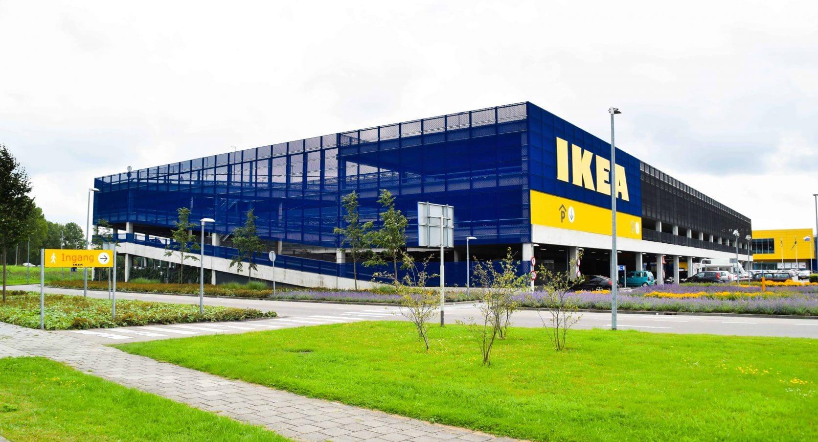 Voorkant van de gevel van MD Strekmetaal en Lamel bij de Parkeergarage van de Ikea in Duiven
