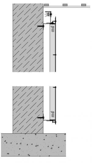 Verticale detaillering van het blinde bevestigingssysteem DEV111 voor gevelpanelen van MD Designperforatie