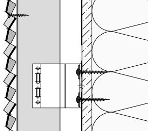 Voorbeeld van een MD Verti STV111, een bevestigingssysteem voor MD Strekmetaal gevelbekleding