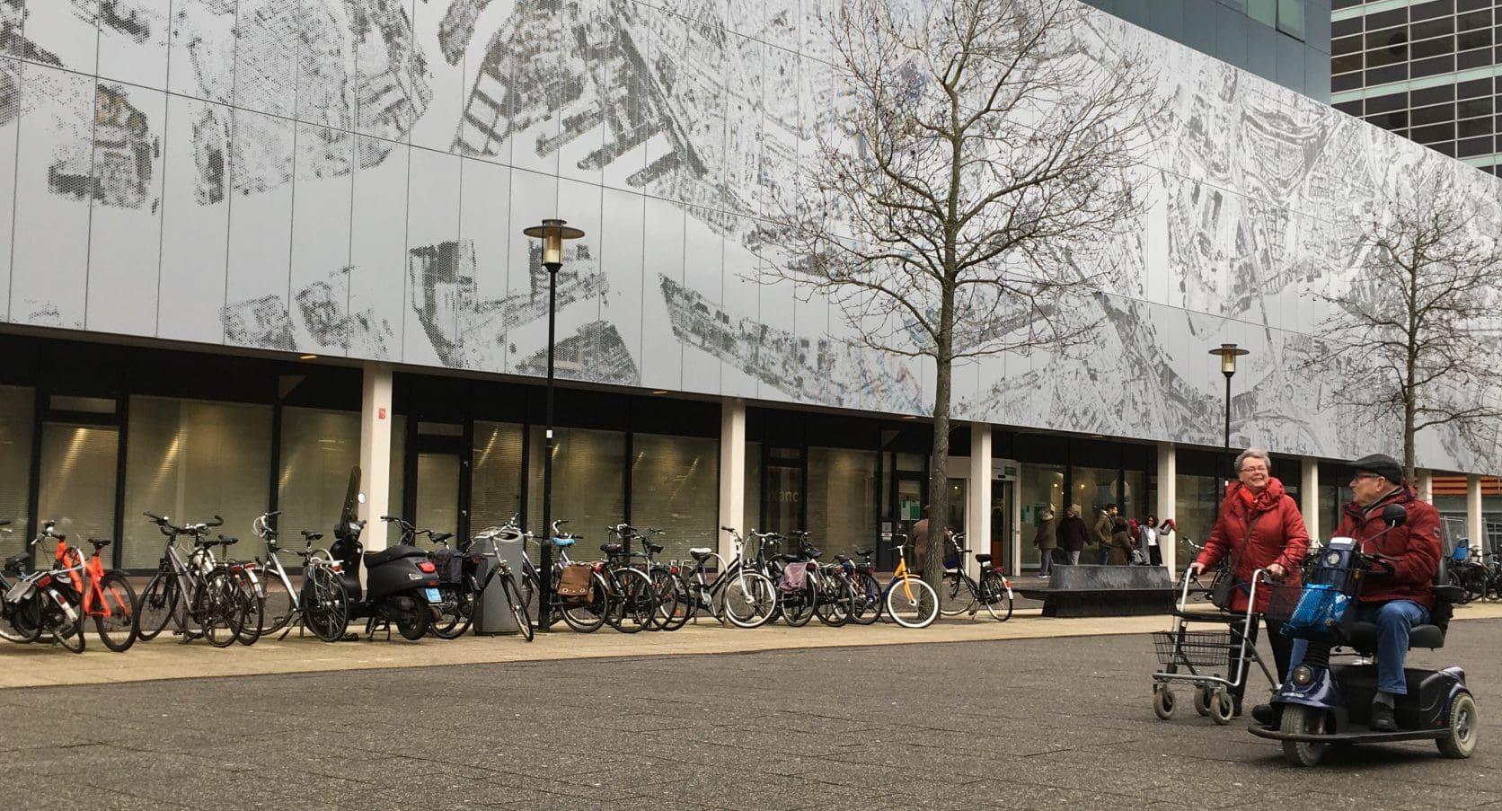 Gevels met mooi detail in MD Designperforatie Kantoorgebouw Prins Alexanderplein te Rotterdam