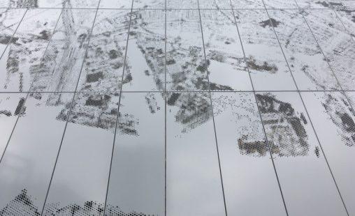 Detail van de Designperforatie voor het Kantoorgebouw aan de Prins Alexanderplein in Rotterdam