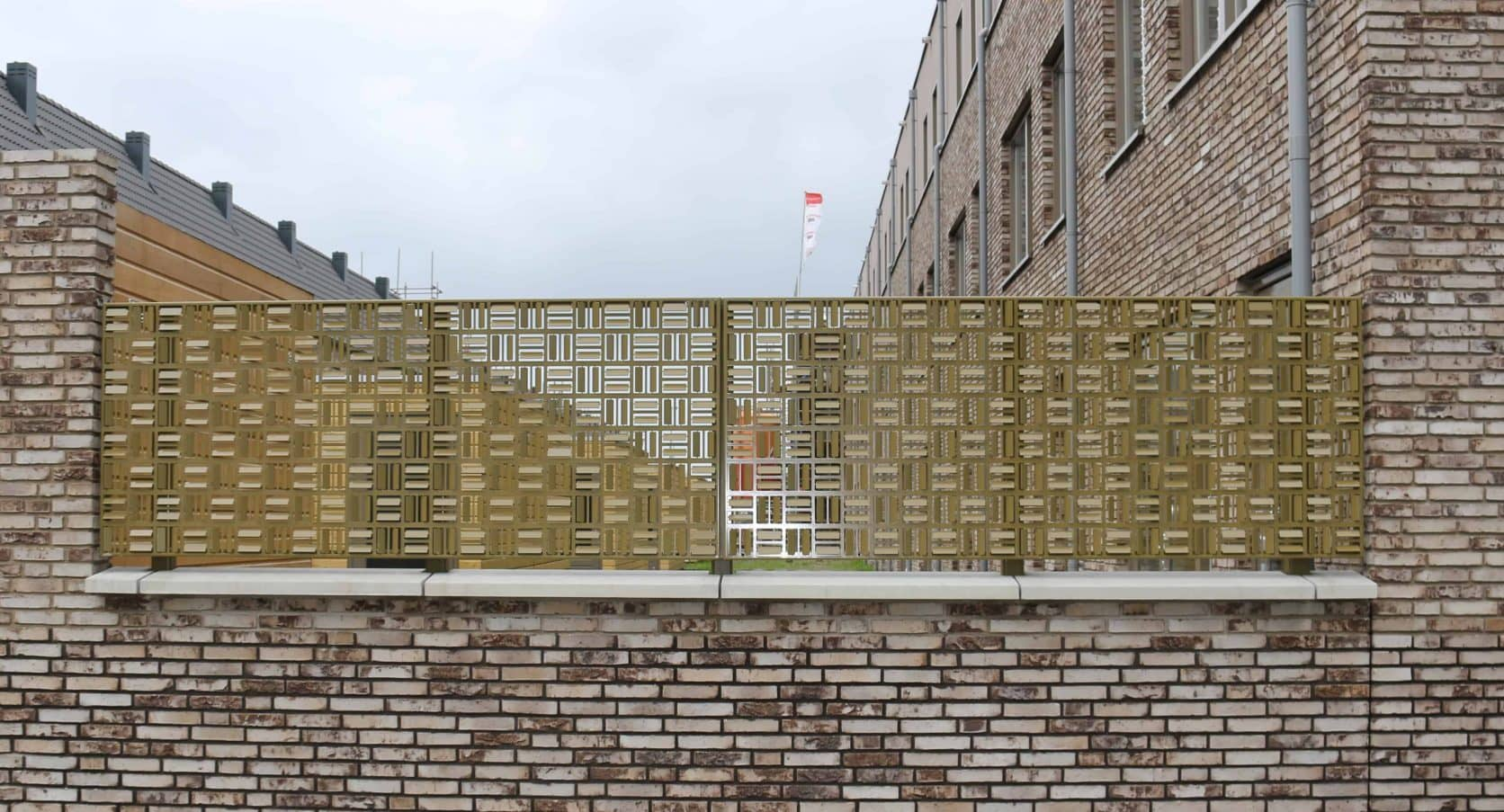 Detail van de MD Formatura gevel bij Stadswerf Kade in Groningen