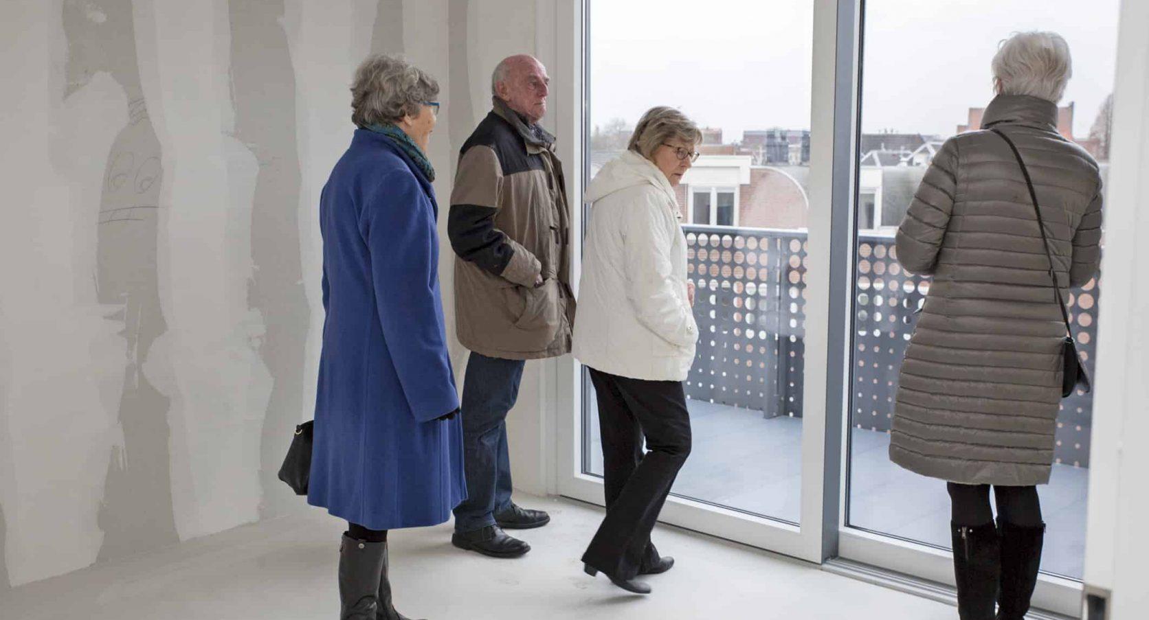 Balkons voorzien van MD Designperforatie bij appartementencomplex Agnietenstraat in Gouda