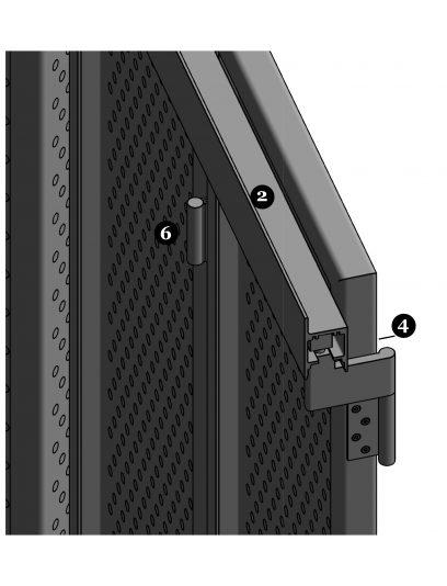 Detailering van de bevestiging DEA112 van bewegende luiken van MD Designperforatie