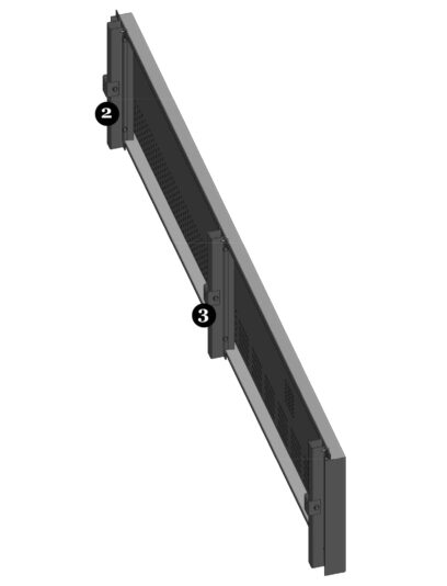 Bovenaanzicht van het blinde bevestigingssysteem DER111 voor gevelpanelen van MD Designperforatie