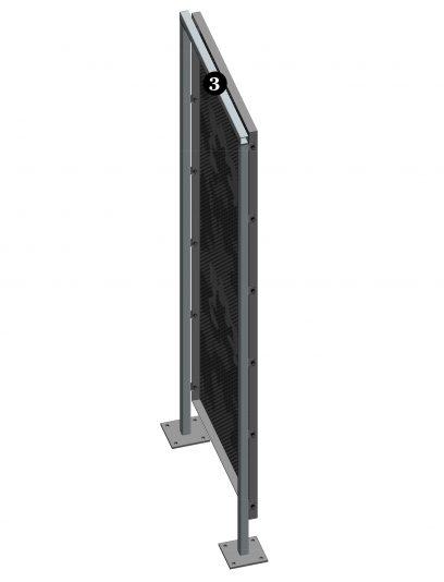 Staand bevestigingssysteem DER113 voor gevelpanelen van MD Designperforatie