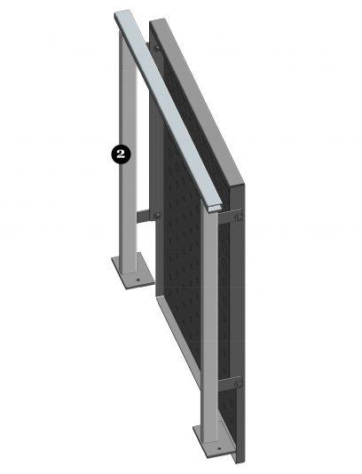 Achterzijde van het blinde bevestigingsysteem DER114 voor gevelbekleding met MD Designperforatie