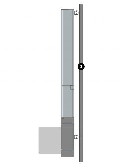 Zijkant bevestigingssysteem DER116 voor gevelpanelen van MD Designperforatie