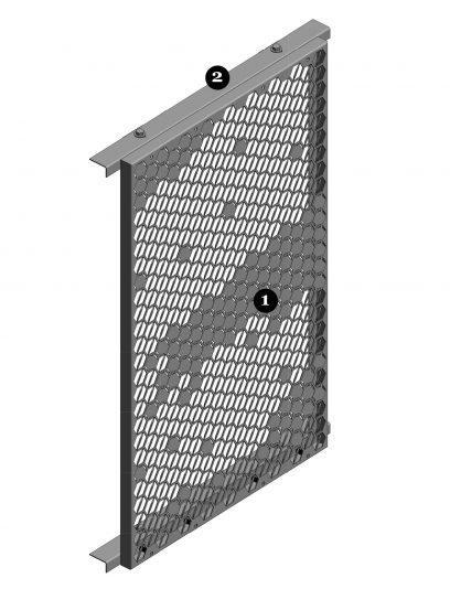 Voorkant van een blinde bevestiging met FOR111 voor gevelpanelen van MD Formatura