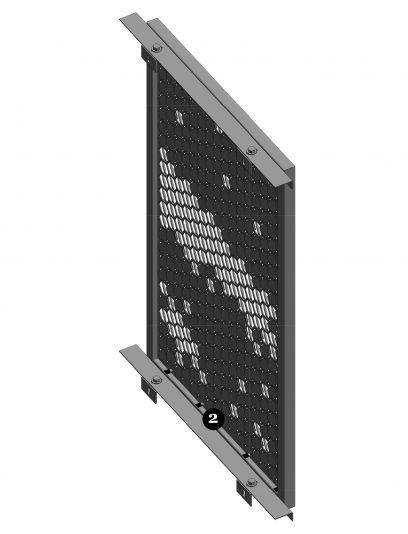 Achterzijde van een blinde bevestiging met FOR111 voor gevelpanelen van MD Formatura