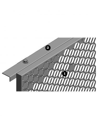 Vooraanzicht van blinde bevestiging FOR111 voor gevelpanelen van MD Formatura