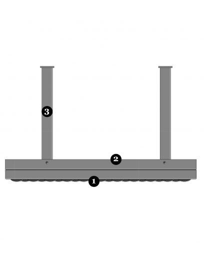Bovenaanzicht van bevestigingssysteem FOR112 voor gevelpanelen van MD Formatura