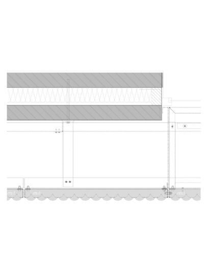 Detaillering van en blinde bevestiging met FOR112 voor gevelpanelen van MD Formatura