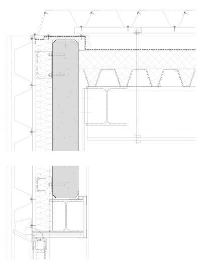 Detailtekening van bevestigingssysteem SHV112 voor gevels bekleed met MD Shapes