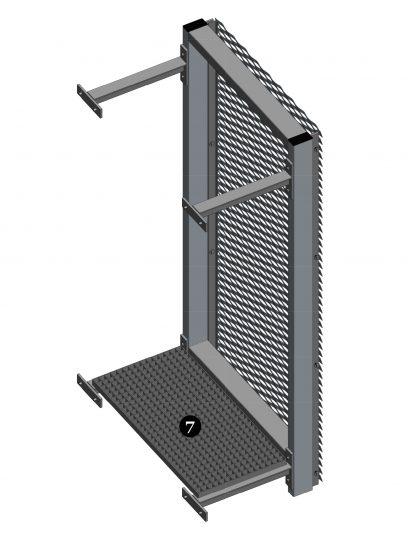 Voorbeeld detail MD Resto, een bevestigingssysteem voor MD Strekmetaal gevelbekleding