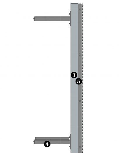 Details van MD Resto STR116, een bevestigingssysteem voor MD Strekmetaal gevelbekleding