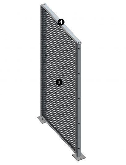 Voorbeeld van een MD Resto STR117, een bevestigingssysteem voor MD Strekmetaal gevelbekleding