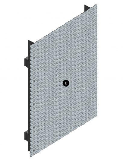 Voorbeelddetails MD Verti STV111, een bevestigingssysteem voor MD Strekmetaal gevelbekleding