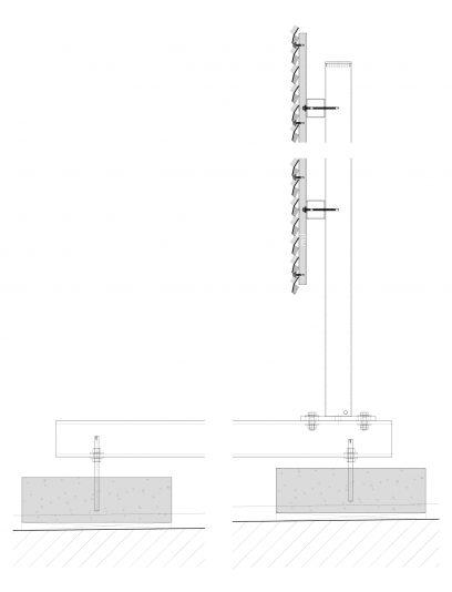 Voorbeeld detail MD Verti STV112, een bevestigingssysteem voor MD Strekmetaal gevelbekleding
