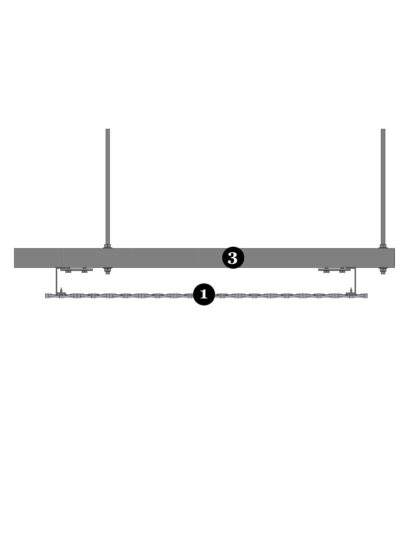 Detailvoorbeeld van MD Verti STV113, een bevestigingssysteem voor MD Strekmetaal gevelbekleding