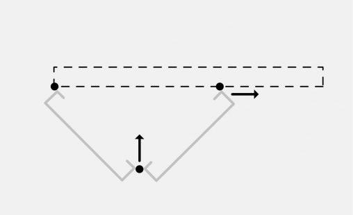 Pictogram bewegend bevestigingsysteem DEA112 voor gevelbekleding van MD Designperforatie