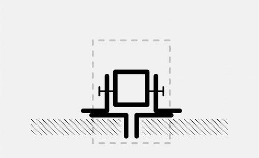 Voorbeel van een bevestiging bij MD Strekmetaal met STR117