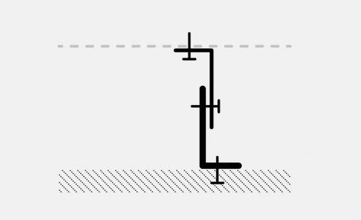Voorbeeld van een bevestiging bij MD Strekmetaal met STV111
