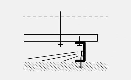Voorbeeld van een bevestiging bij MD Strekmetaal met STV113