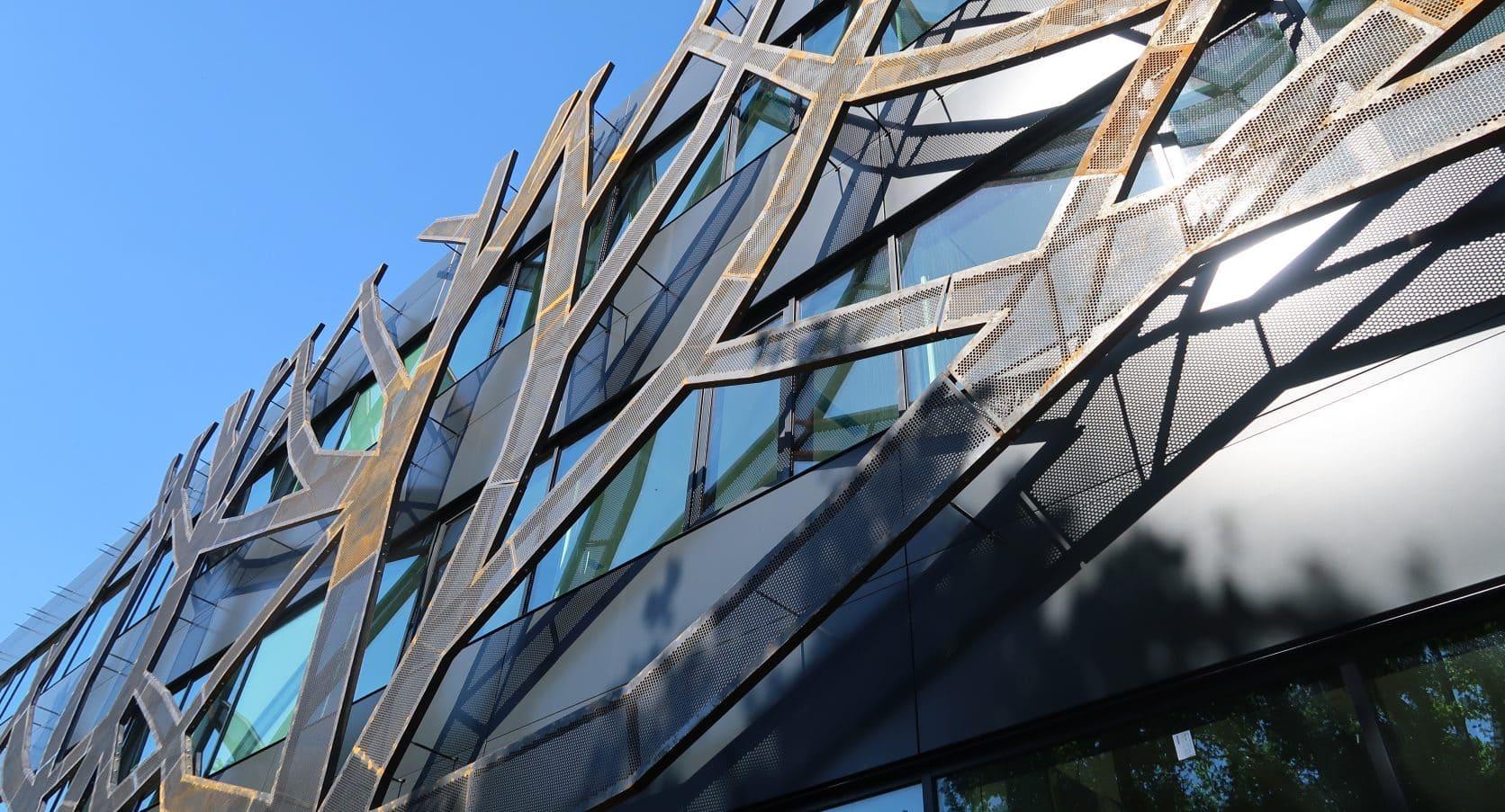 Graafschap College Doetinchem Gevelbekleding MD Designperforatie corten