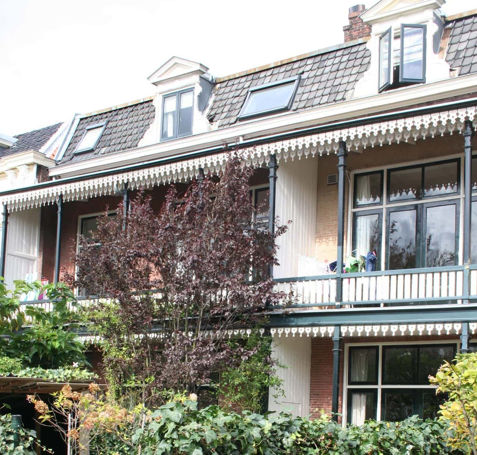 Plantsoen in Leiden veranda's