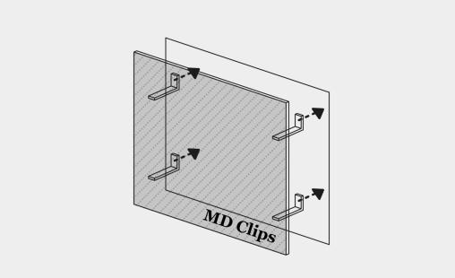 Pictogram bevestigingssysteem MD Clips LR voor gevelbekleding
