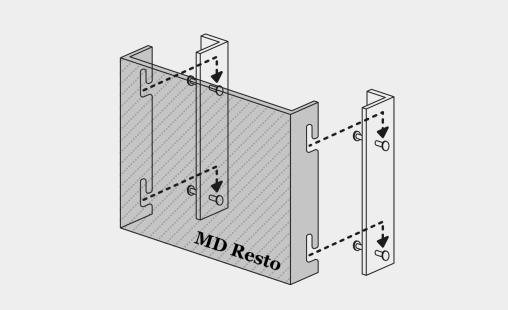 Pictogram van bevestigingssysteem MD Resto voor MD Shapes gevelbekleding